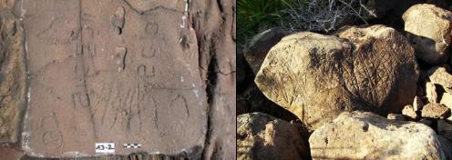 Grabados alfabéticos y lineales en La Palma