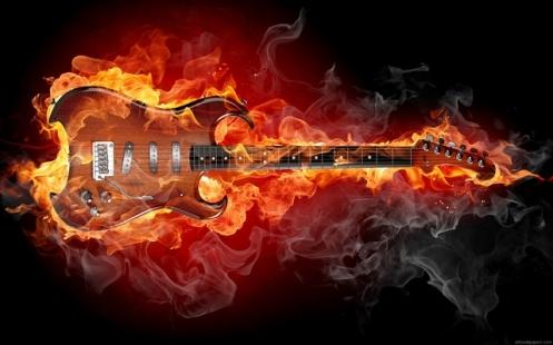 Guitarra inflamada