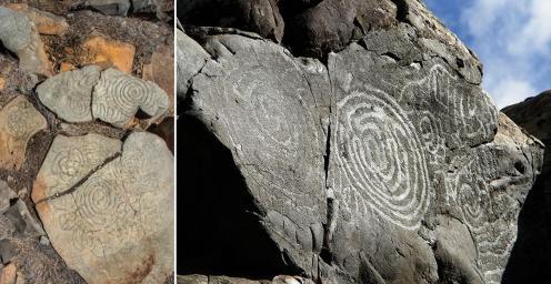 Petroglifos en La Fajana y Lomo Gordo (El Paso, La Palma)