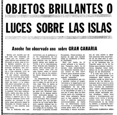 Objetos brillantes imagen de noticia 1974